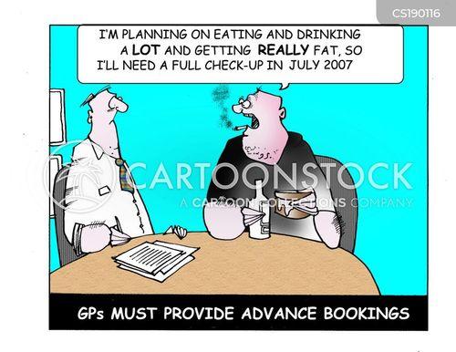 booking cartoon
