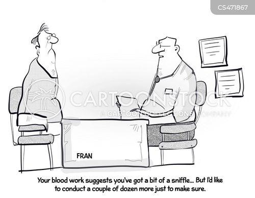 blood work cartoon