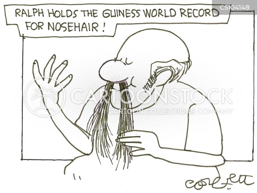nosehair cartoon