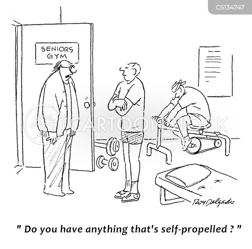 elderly man cartoon