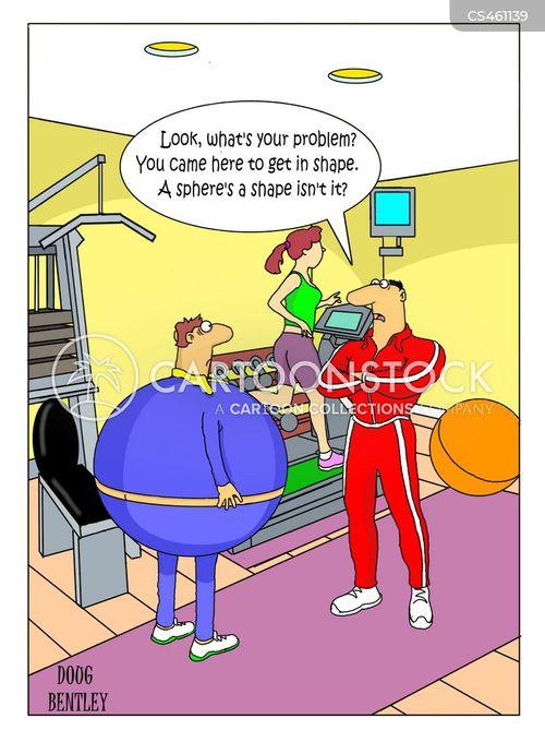 workout regime cartoon