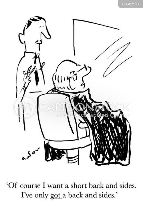 bald spot cartoon