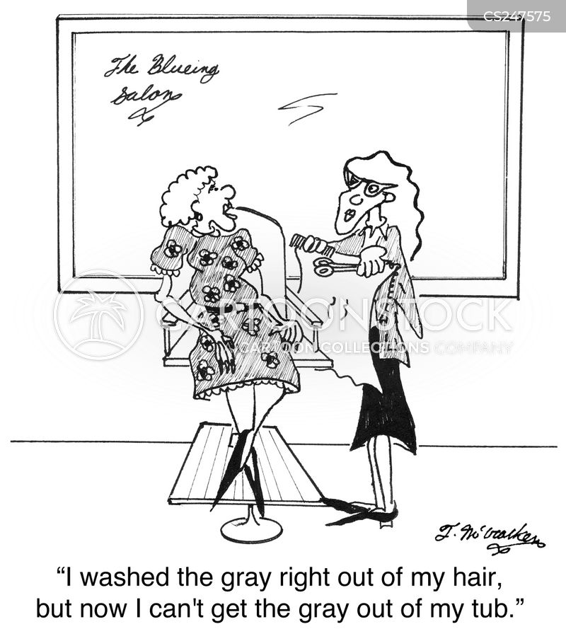 gray hair cartoon