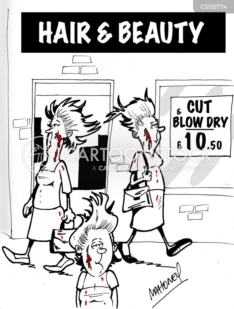 blow dry cartoon