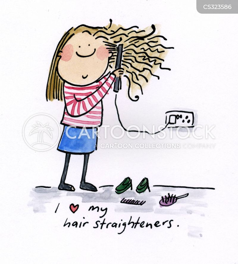 curly hair cartoon