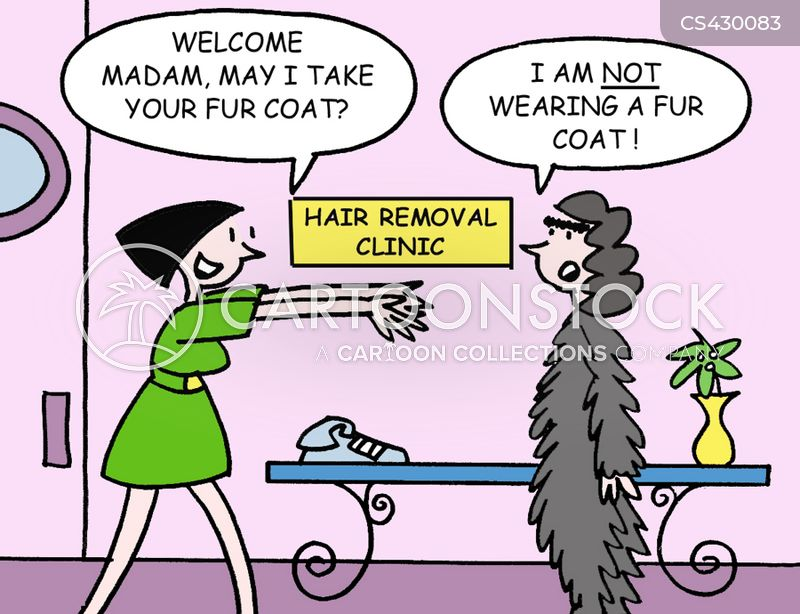 hair removals cartoon