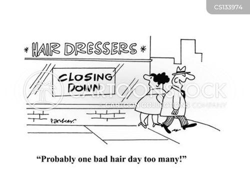 hair dressing cartoon