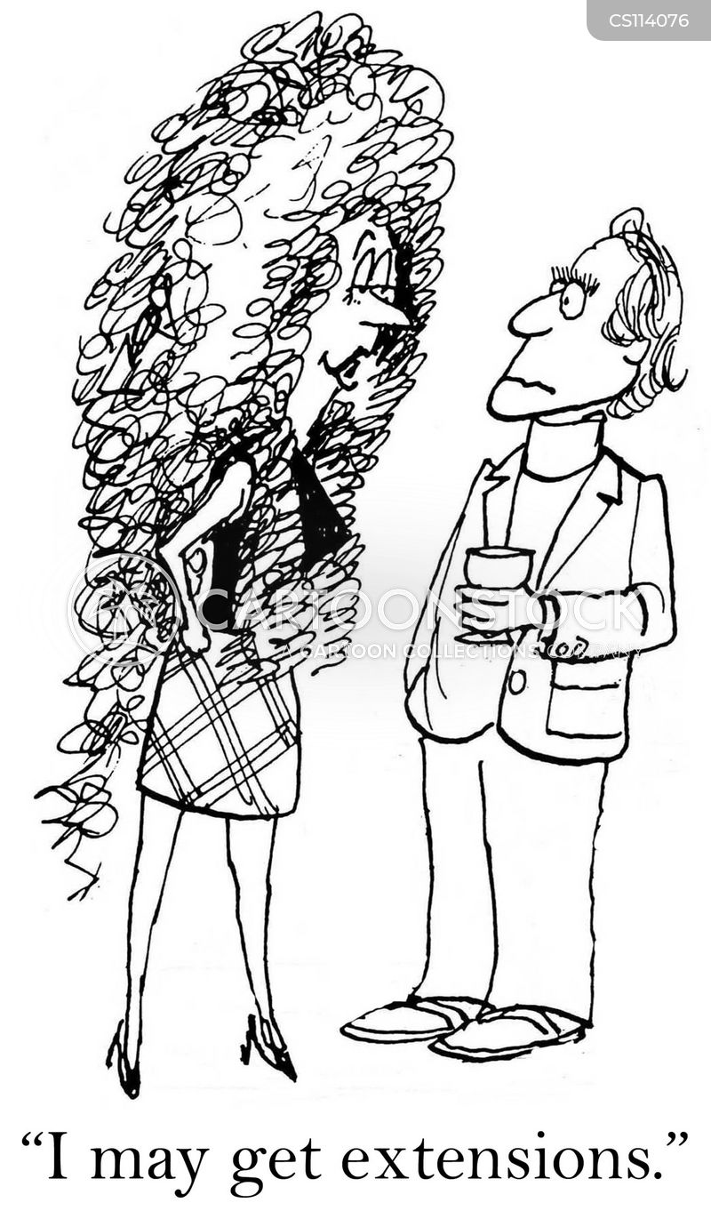 curls cartoon