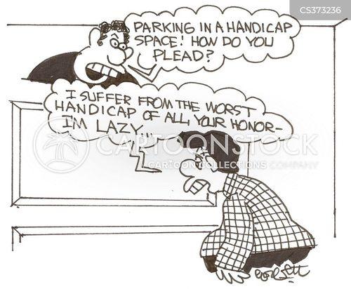 parking violatiation cartoon