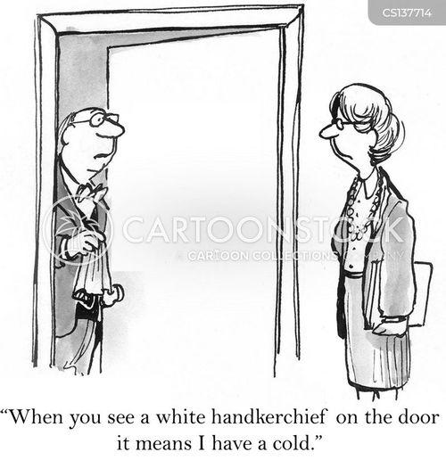 handkerchief cartoon
