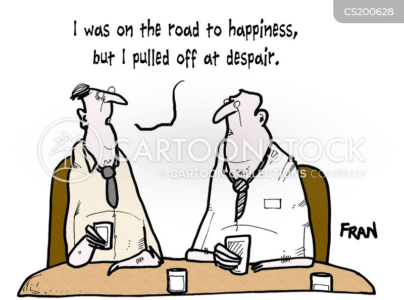 despairing cartoon