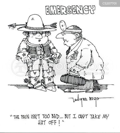 in pain cartoon