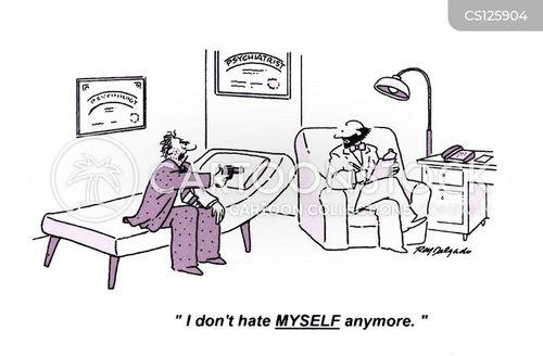 hating yourself cartoon