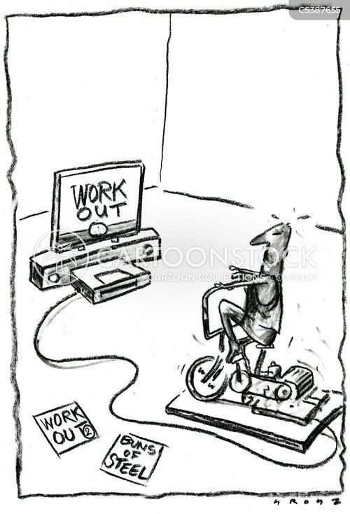 exercise videos cartoon