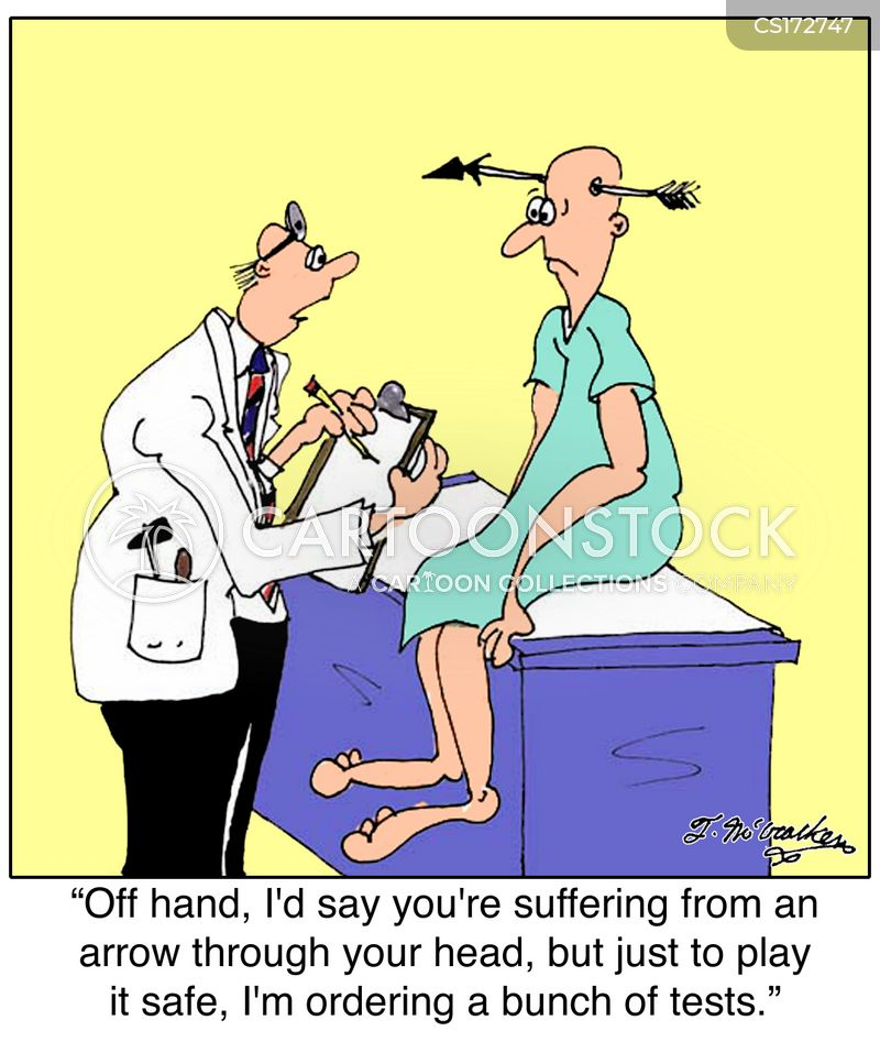 medical test cartoon