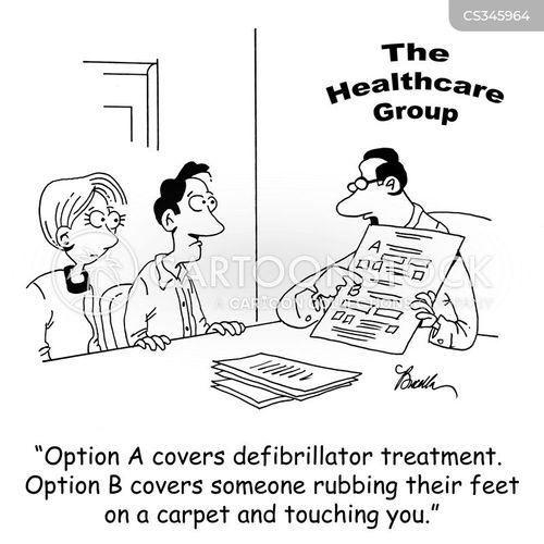 defibrillators cartoon