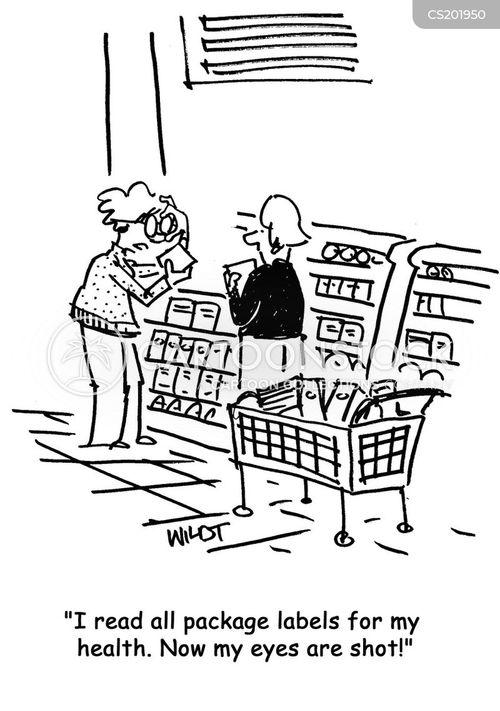 food labels cartoon