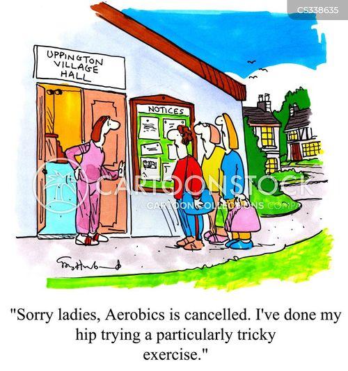 aerobics classes cartoon