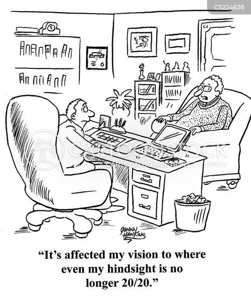 eye injury cartoon