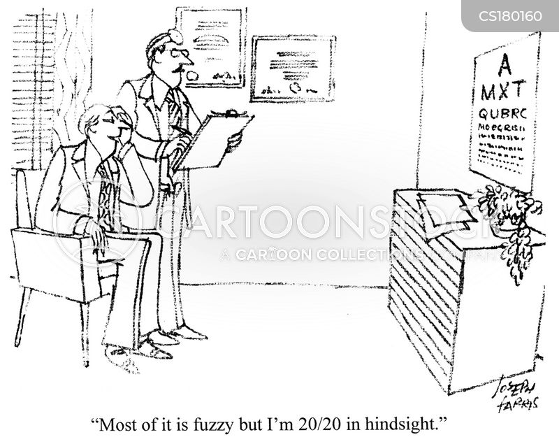 short sighted cartoon