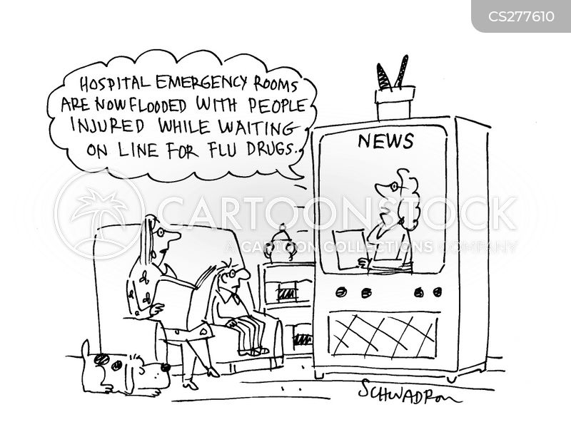 flu drug cartoon