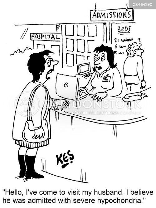 hospital visiting cartoon