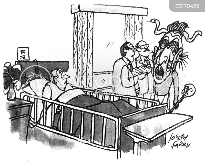 hospital patients cartoon
