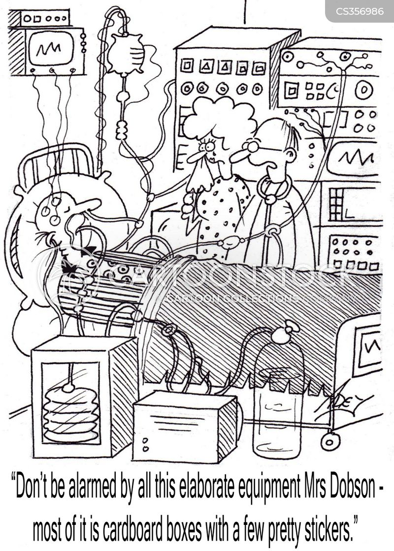 life support machines cartoon