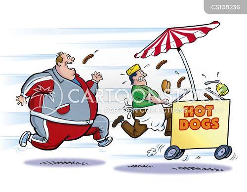 hot dog vendor cartoon