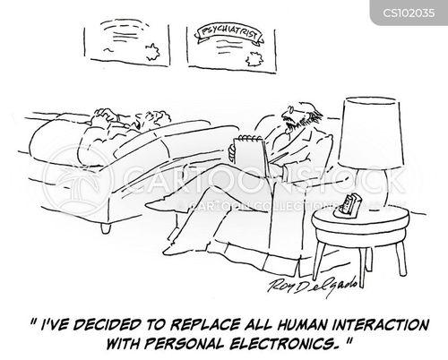 human interaction cartoon