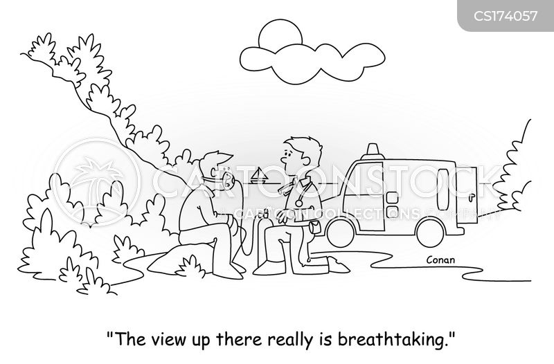 shortness of breath cartoon