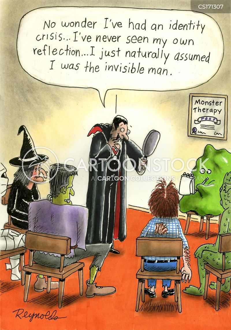 identity crises cartoon