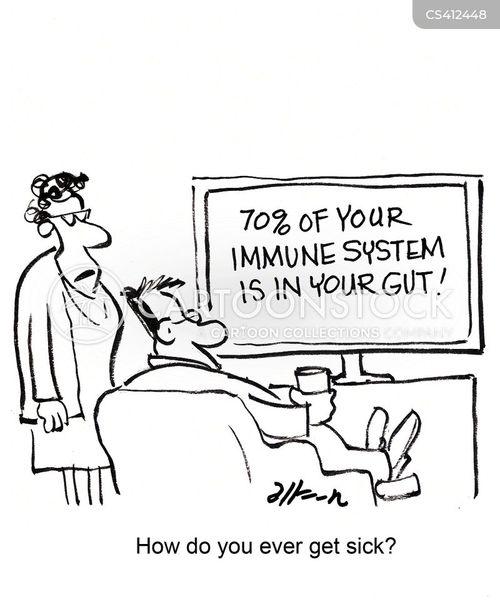 Image Gallery immune system cartoon