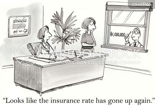 insurance rate cartoon