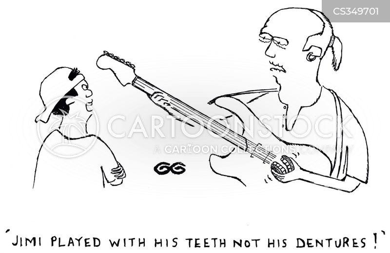 Jimi Played With His Teeth Not Dentures