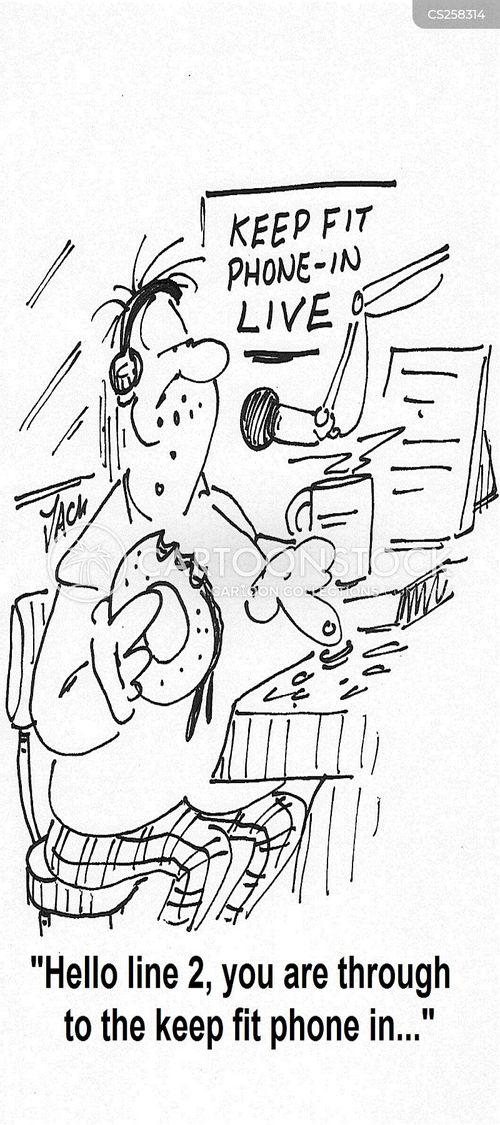phone in cartoon