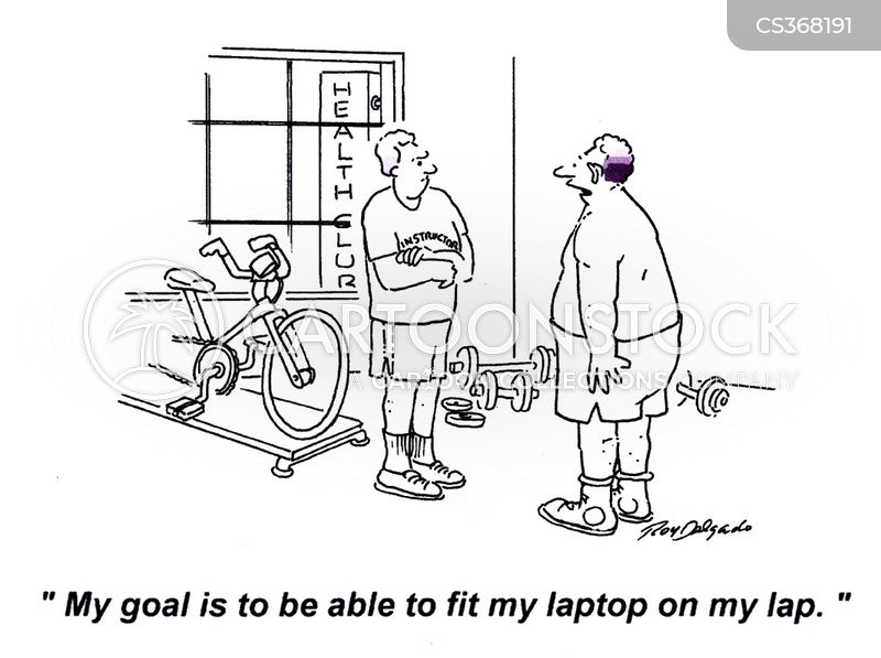 fitnesses cartoon
