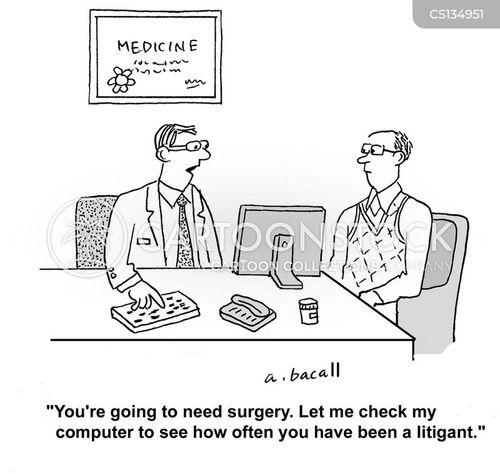 medical lawsuits cartoon