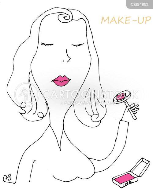 make up artist cartoon