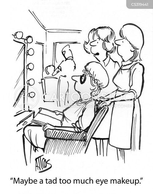 eyeliner cartoon