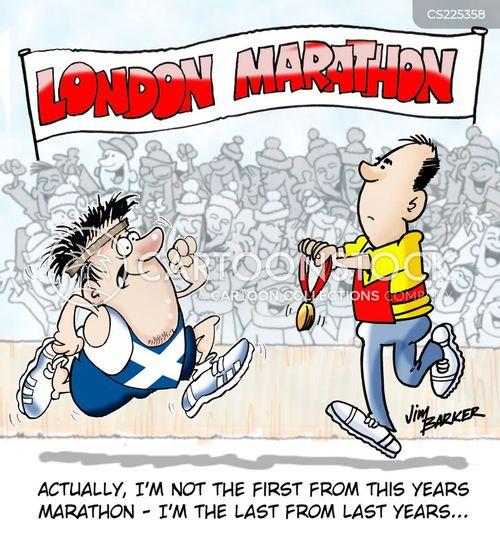 finish lines cartoon