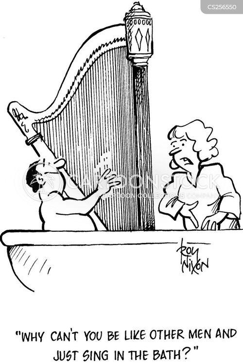 bathed cartoon
