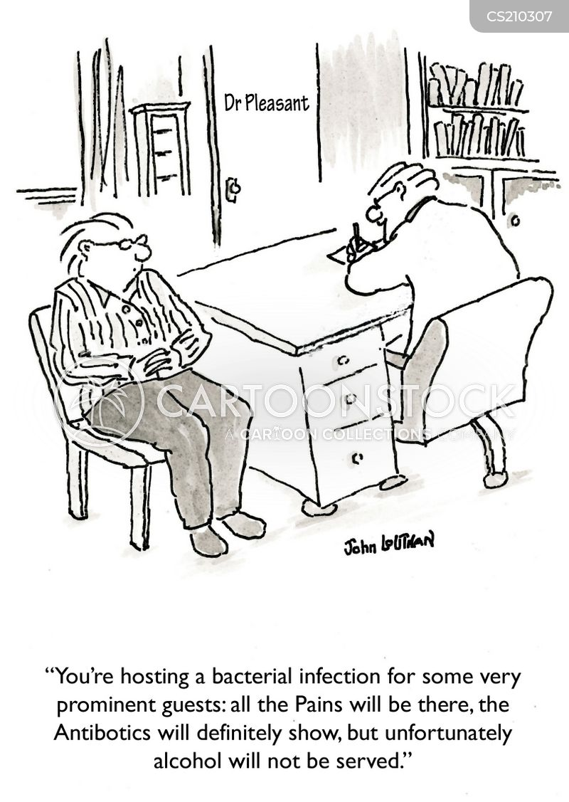 bacterial infection cartoon