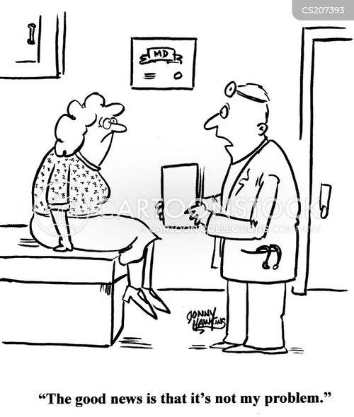 delivering bad news cartoon