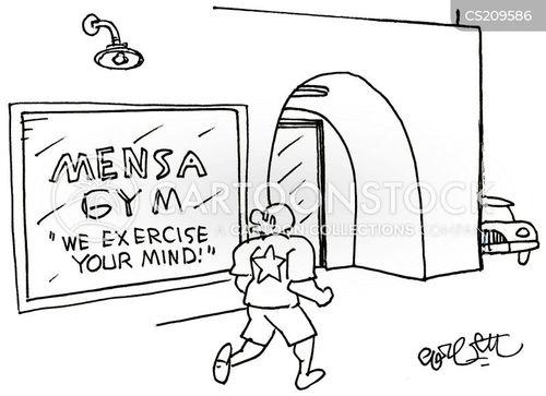 iq test cartoon