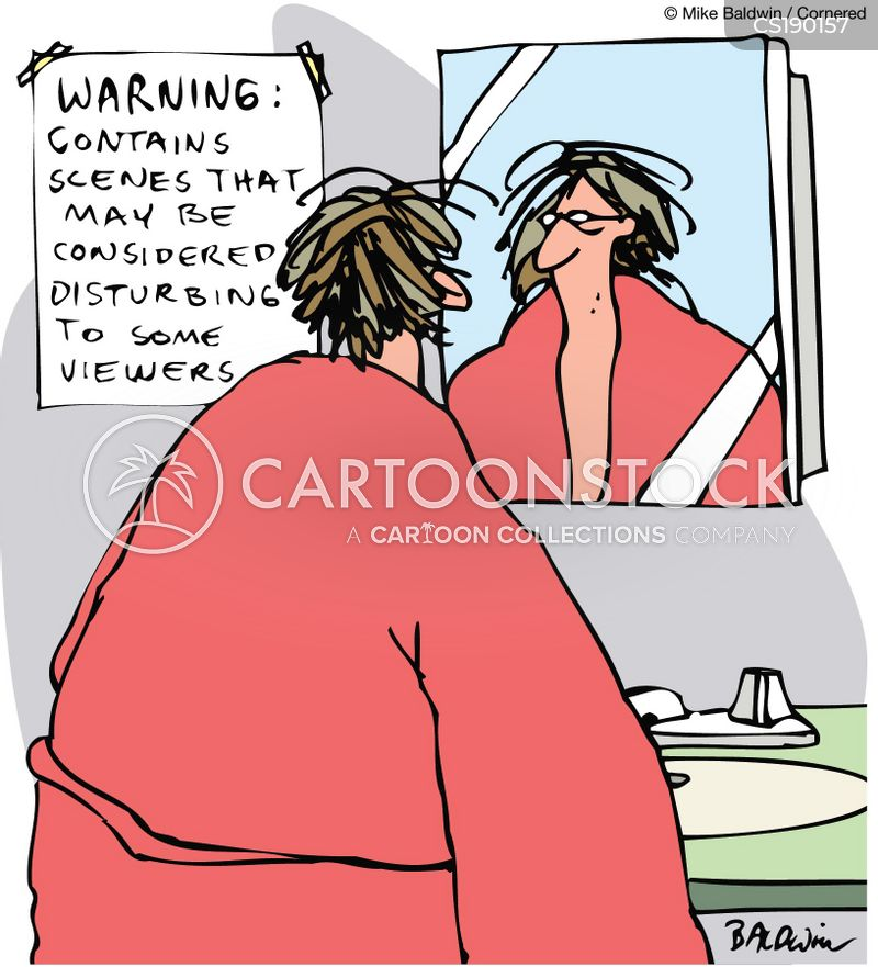 vanity mirror cartoon
