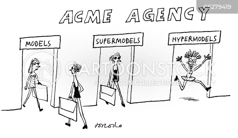 Modelling Agency Cartoons and Comics - funny pictures from