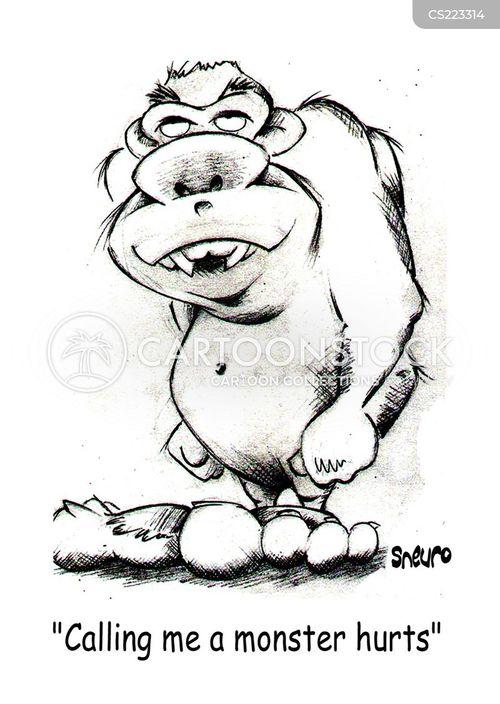 grotesque cartoon