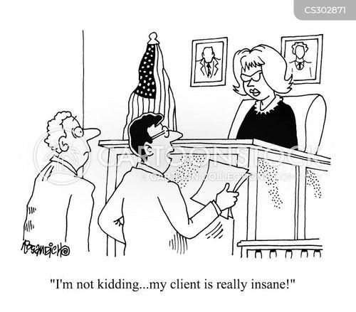 insanity plea cartoon