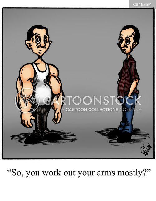 arm muscle cartoon